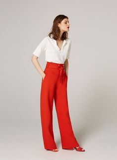 Trousers with bow - View all - Ready to wear - Uterqüe Spain - Canary Islands
