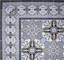 Handmade cement tile. I could just see this in a bright hallway with white plaster walls and wood beams on the ceiling. Maybe a nice Moravian Star hanging above.