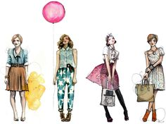 fashion illustrations, beautiful rendering and illustration