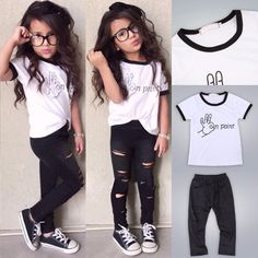 2pcs Toddler Kids Baby Girls T-shirt Tops+Long Pants Leggings Outfit Clothes Set #Unbranded #DressyEverydayHoliday