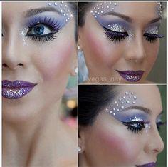 Maquillaje con brillos