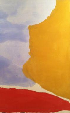 Helen Frankenthaler - love the color combination