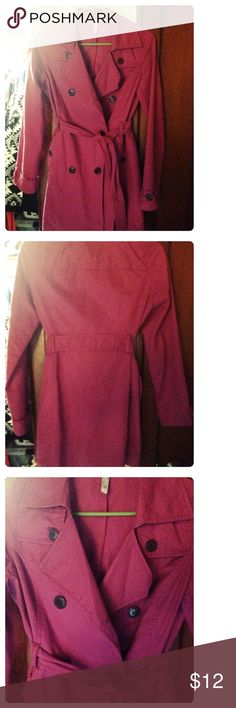 Old Navy Coat Raspberry purple colored Old Navy coat, size xsmall. Kind of like a trench coat and peacoat combined. Very gently used! No missing buttons or holes Old Navy Jackets & Coats Trench Coats