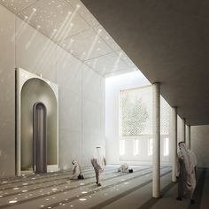 prayer room - Inspiration for Mosque at University Campus in Middle East by SI Architects