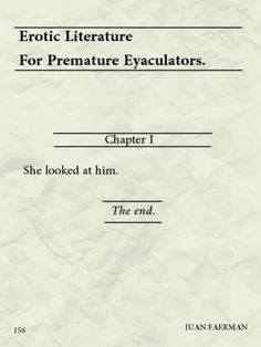 Short But Sweet - You Done Already? Erotic Literature for Premature Ejaculation ---- best hilarious jokes funny pictures walmart humor fail Walmart Humor, Funny Photos, Best Funny Pictures, Fail Pictures, Funny Fails, Funny Jokes, Funny Drunk, 9gag Funny, It's Funny