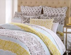 Cynthia Rowley King or Queen Duvet Cover Set Large Moroccan Ornate Medallion Mustard Yellow Charcoal Gray Blue (King) Cynthia Rowley http://www.amazon.com/dp/B00VXLE79A/ref=cm_sw_r_pi_dp_3tcnvb1B6Q4PD