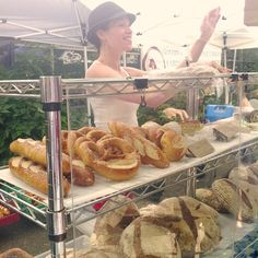 Farmers market in PSU features some good bakeries.