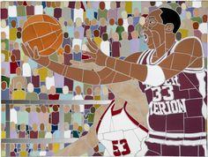 Kobe Bean Bryant. i dunno about you, but i love a good mosaic.