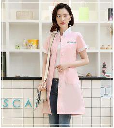 35fba57afaa0e Women's Summer Stand Collar Short sleeve sleeve nurse uniform dental clinic  doctor's uniform slim fit doctor
