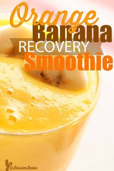 Orange banana recovery smoothie is refreshing and easy to make in a high powered blender, such as a Blendtec or Vitamix. Perfect after an intense workout Orange Banana Smoothie Recipe, Orange Juice Smoothie, Lemon Smoothie, Smoothie Blender, Fruit Smoothie Recipes, Easy Smoothies, Flaxseed Smoothie, Flax Seed Recipes, Shake Recipes