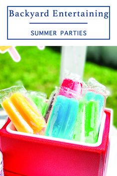 Have some fun this summer with a backyard popsicle party with inspiration from Everyday Party Magazine #SummerParty #PopsicleParty #SummerFun