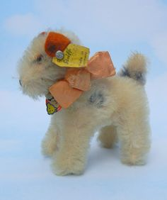"Steiff Fox Terrier Dog Foxy  ALL IDs Ginny Doll Size 4"" Tall  1959  #1310,00"
