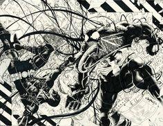 Deadpool vs. Venom by Jimbo Salgado