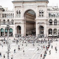 """Piazza Del Duomo seen from """"above"""" Milan, Italy Places Around The World, Oh The Places You'll Go, Places To Visit, Around The Worlds, Italy Vacation, Italy Travel, Ways To Travel, Places To Travel, Place Of Birth"""