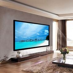 100 Aluminum Fixed Frame Projector Screen Velvet Matte White Home Theater in Consumer Electronics, TV, Video Home Audio, TV, Video Audio Accessories Best Home Theater, Home Theater Setup, Home Theater Speakers, Home Theater Rooms, Home Theater Seating, Home Theater Design, Home Theater Projectors, Movie Theater, Home Theater Screens