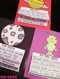 Super fun space themed writing activities!
