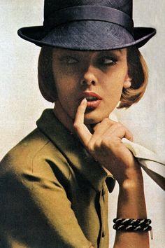 Fashion design by Halston, 1960s.