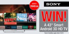 "#Sony 43"" Smart Android 3D HD TV competition - Winner: Emma Wilson"