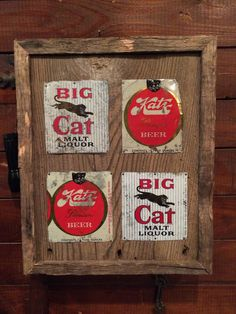 Beer Can on Barn Wood