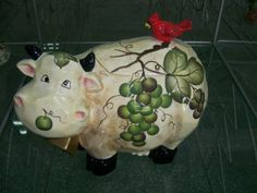 cow shape Ceramic Cookie Jars