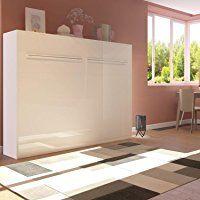 Schrankbett Mit Sofa schrankbett 140 x200cm vertikal weiß ideal als gästebett wandbett