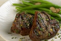 ... Grilled Australian Lamb Loin Chops with Orange-Mint Gremolata