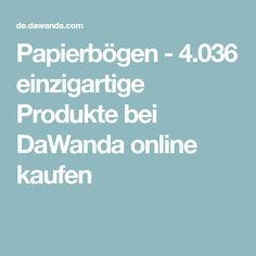 Papierbögen - 4.036 einzigartige Produkte bei DaWanda online kaufen