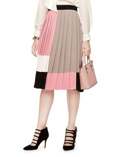 Pin for Later: Michelle, Sasha, and Malia Obama Were Perfectly Put Together to Meet the Pope  Kate Spade Colorblock pleated skirt ($328)