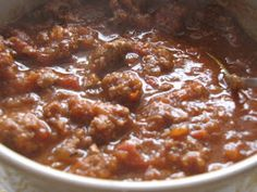 Beanless Chili--because beans are icky and make you fart.