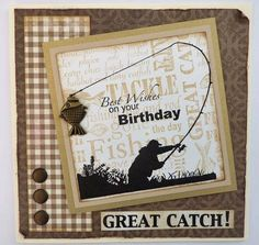 Woodware Challenge – Cards For Men – Day 4