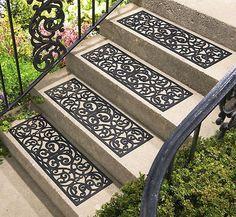 New 4 Butterfly Pattern Stair Treads Garden Outdoor Yard Decor | eBay
