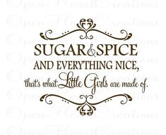 Sugar and Spice and Everything Nice Wall by openheartcreations, $39.00