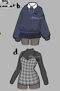 Cute Casual Outfits, Edgy Outfits, Anime Outfits, Grunge Outfits, Fashion Design Drawings, Fashion Sketches, Teen Fashion Outfits, Fashion Art, Kleidung Design