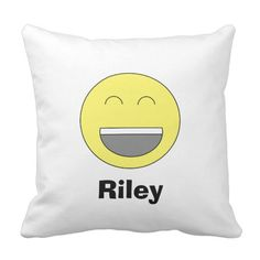 Personalized Emoji Pillow will look great in any room or dorm! Other side can be any color or personalized the way you want!