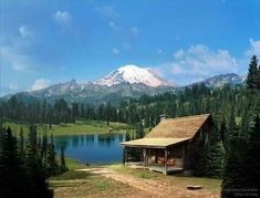 Log Cabin Living, Log Cabin Homes, Lake Cabins, Cabins And Cottages, Getaway Cabins, Forest Cabin, Little Cabin, H & M Home, Cozy Cabin