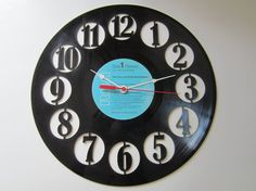 Circle Recycled Record Clock
