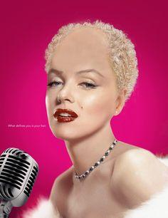 Balding Marilyn Monroe
