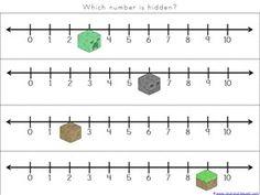 Minecraft Kindergarten Printables - 1+1+1=1