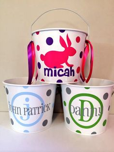 Personalized Easter Pails!