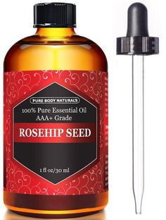 Organic Cold Pressed Rosehip Seed Oil - 1 Oz #acnemeaning