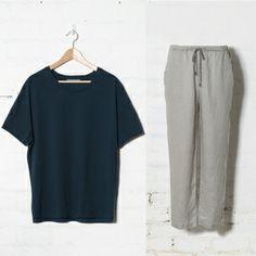 Elk | Trött Pyjama Set | SÖMN sleepwear | Stonewashed linen and cotton comfort. | Men's Pyjamas