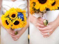 Eine stylische Hochzeit mit Sonnenblumen | Friedatheres