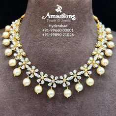 If you consider Jewellery to be your best friend, you ought to have a sarwoski on stock. The finess and style are worth your bucks and what can be the best place then Amarsons Pearls and Jewels . For More Info Whatsapp on : +91-9966000001 | +91-9989021026. www.amarsonspearl.com Diamond Choker Necklace, Bold Necklace, Pearl Choker, Gold Jewelry, Jewelery, Jewelry Accessories, Jewelry Design, Indian Jewelry, Chokers