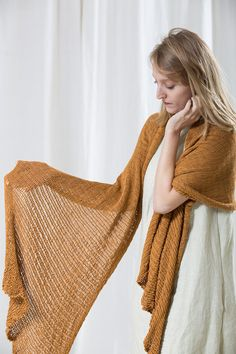 Women Mustard ShawlEco Design Knitted Scarf by Toosha on Etsy, $85.00