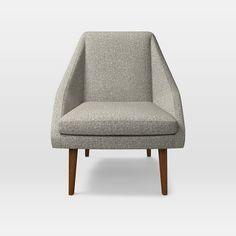 Parker Chair, Twill, Gravel