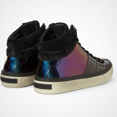 Belgravia Hologram Patent Leather Sneakers by Jimmy Choo - $835 --For my brother