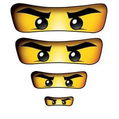 Ninjago Eyes for Balloons, Treat Bags, Lollipops, Cups - printable DIY Karate Party, Karate Birthday, Ninja Birthday Parties, Lego Parties, 5th Birthday, Ninja Birthday Cake, Ninja Cake, Birthday Ideas, Lego Ninjago Cake