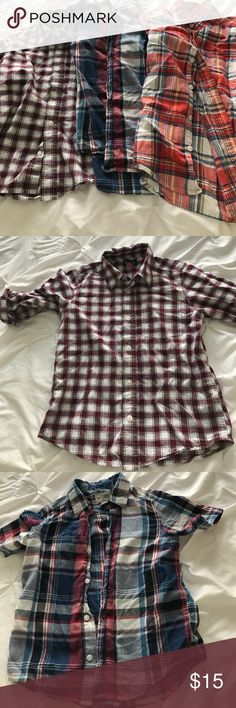 Boys button down tops 1 long sleeve and 2 shirt sleeve button down tops Children's Place Shirts & Tops Button Down Shirts