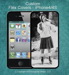 Retro Ice Skater - I Phone 4/4s Flex Cover