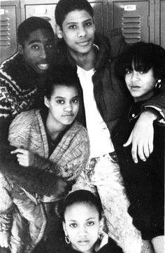 Tupac Shakur and Jada Pinkett at Baltimore School for the Arts